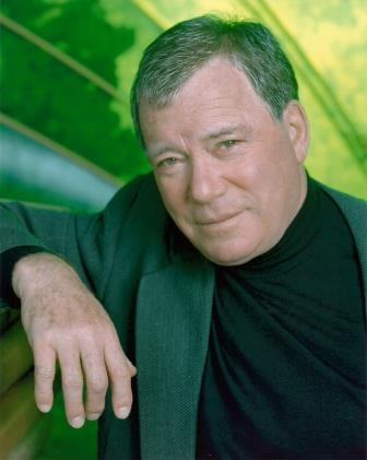 William Shatner green backgrd rev