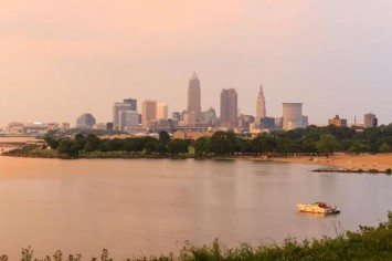 cle skyline from edgewater