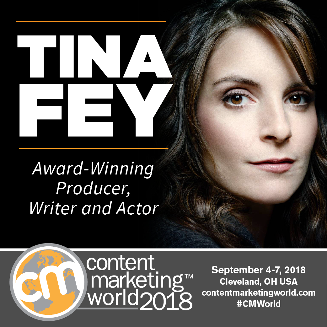 Image result for content marketing world 2018 Tina Fey