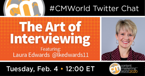 A #CMWorld Twitter Chat with Laura King Edwards Content Marketing World 1