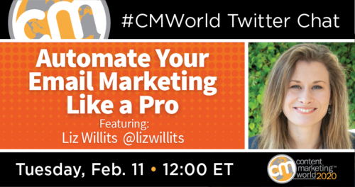 A #CMWorld Twitter Chat with Liz Willits Content Marketing World 1