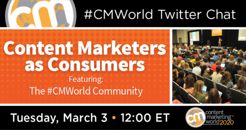 A Twitter Chat with the #CMWorld Community Content Marketing World 1