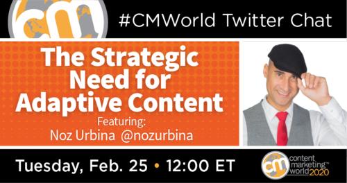 A #CMWorld Twitter Chat with Noz Urbina Content Marketing World 1