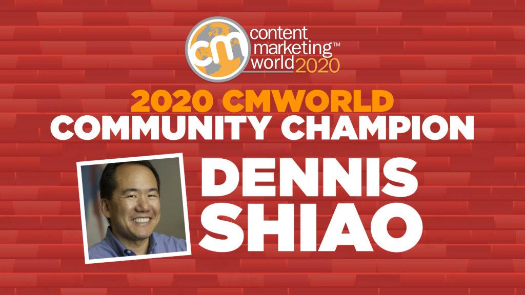 - Content Marketing World Congratulations to this year's #CMWorld Community Champion! Content Marketing World 1