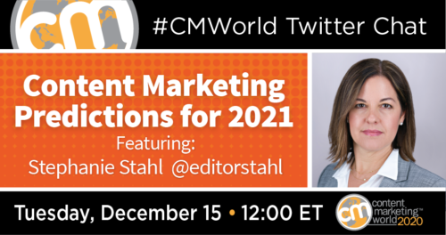 A #CMWorld Twitter Chat with Stephanie Stahl Content Marketing World 1